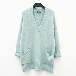 Polaris - V-Neck Long Sweater