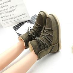 EMIL - Lace-Up Short Snow Boots