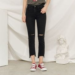 Heynew - Ripped Cropped Jeans
