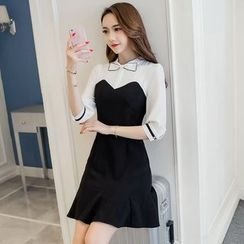 Cherry Dress - Bow Panel Dress