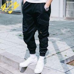 YIDESIMPLE - Multi-Pocket Sweatpants