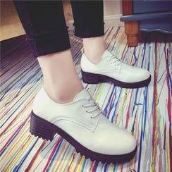 Yoflap - Chunky Heel Oxfords