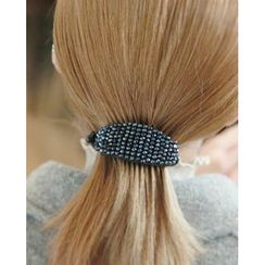 Miss21 Korea - Beaded Oval Hair Clamp