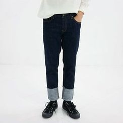 Seoul Homme - Roll-Up Washed Jeans