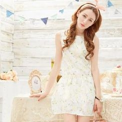 Tokyo Fashion - Floral Sleeveless Lace Dress