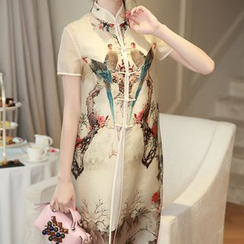 LunarS - Set: Short-Sleeve Print Dress + Tank Dress