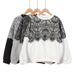 Momewear - Lace-Panel Pullover