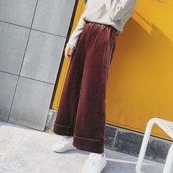 EKOOL - Wide-Leg Cropped Pants