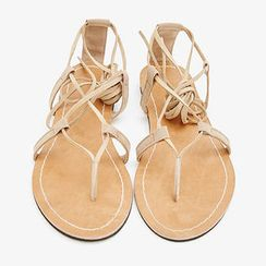 chuu - Faux-Suede Strappy Sandals