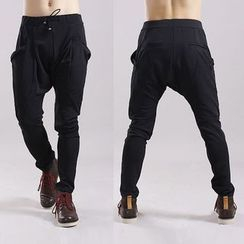 uninukoo - Drawstring Drop Crotch Sweatpants