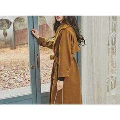 UUZONE - Wool Blend Coat