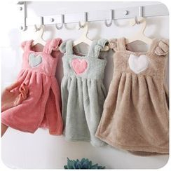 Momoi - Heart Coral Fleece Hand Towel
