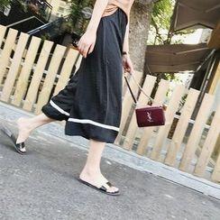 Meimei - 拼接寬腿褲