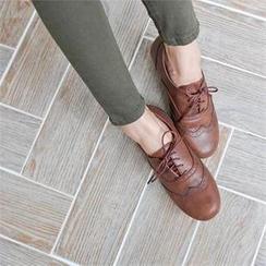 Styleberry - Hidden-Heel Oxford Flats