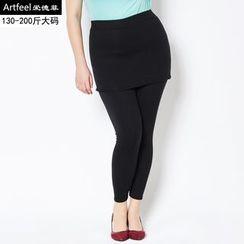 Artfeel - Inset Skirt Leggings