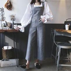 DABAGIRL - Wide-Leg Wool Blend Jumper Pants