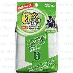 Mandom 漫丹 - Gatsby Mild-Type Body Paper (Aqua Fruity)