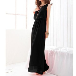 Dream a Dream - Sleeveless Chiffon Maxi Dress