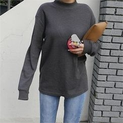 LIPHOP - Mock-Neck Knit Top