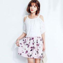Tokyo Fashion - Mock Two-Piece Floral Dress
