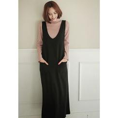 REDOPIN - Sleeveless Dual-Pocket Long Dress