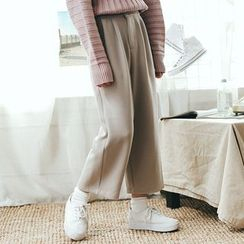 Kojasmine - Plain Wide-Leg Pants