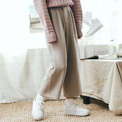 Kojasmine - 純色闊腿褲