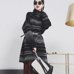 Sonne - High-Neck Long Knit Sweater