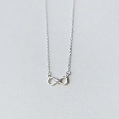 A'ROCH - 925 Sterling SilverRhinestone Infinity Symbol Pendant Necklace