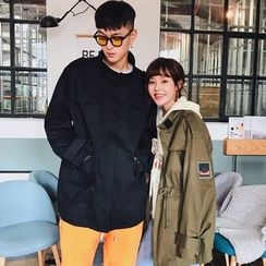 FULLHOPE - Couple Matching Drawstring Parka