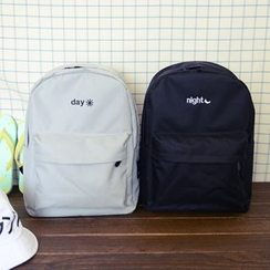 ALIN - Embroidered Canvas Backpack