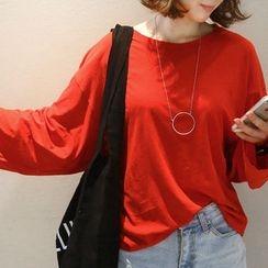 NANING9 - Dolman-Sleeve Oversized T-Shirt