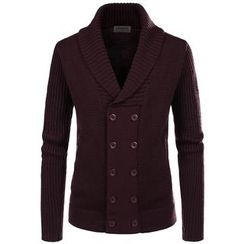 TheLees - Shawl-Collar Double-Breast Cardigan