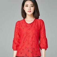 Eferu - 七分袖蕾丝衬衫
