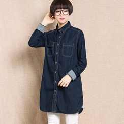 Rosadame - Long Denim Shirt