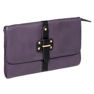 59 Seconds - Buckle-Accent Studded Clutch