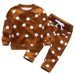 Endymion - Kids Set: Dotted Pullover + Drawstring Pants