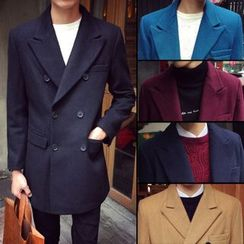 Chuoku - Notch Lapel Double Breasted Coat