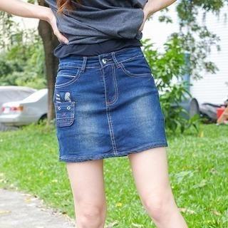 YoungBaby - Denim Miniskirt