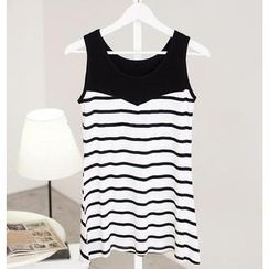 SO Central - Sleeveless Striped Tunic