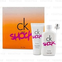 Calvin Klein 卡爾文克來恩 - CK One Shock For Her Coffret: Eau De Toilette Spray 100ml/3.4oz + Body Lotion 100ml/3.4oz