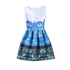 Flore - Sleeveless Patterned Dress