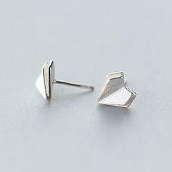 A'ROCH - Heart 925 Sterling Silver Stud Earrings