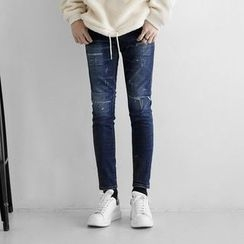 Seoul Homme - Distressed Skinny Jeans