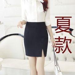潞依韓 - 包臀開衩裙