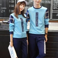 Bay Go Mall - Couple Matching Print Pullover