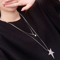 HIME - Crystal Rhinestone Pendant Necklace