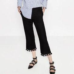 Chicsense - Paneled Cropped Pants