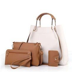 Denyard - Set: Satchel + Cross Bag + Wristlet + Card Holder