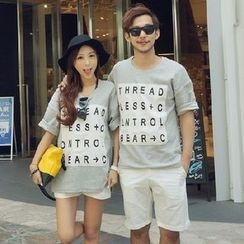 Honey Lemon - 套裝:情侶款T恤 + 短褲